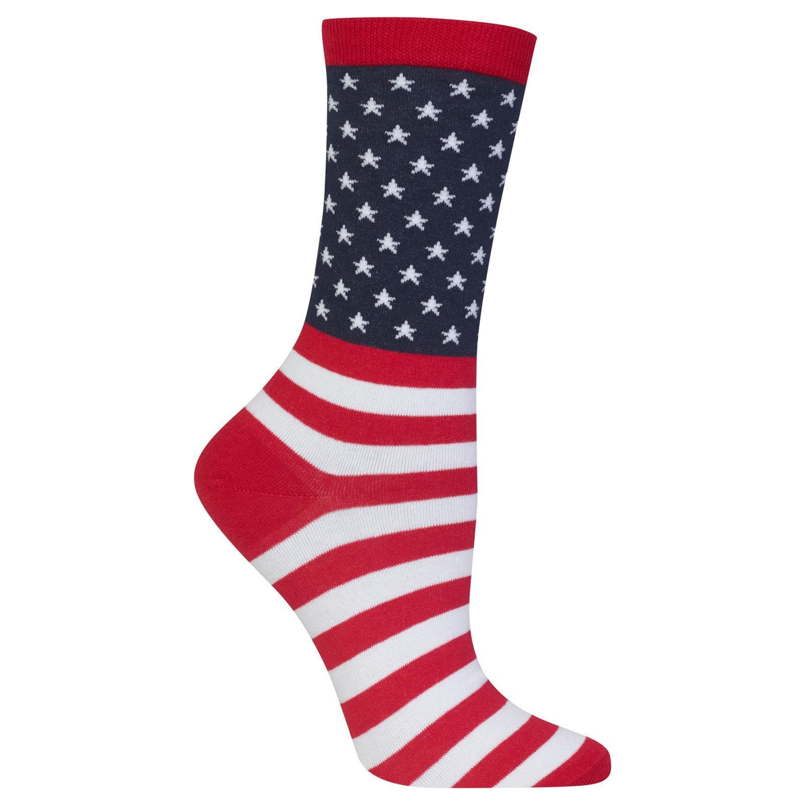 Starry Flag Socks Women's Crew Sock red