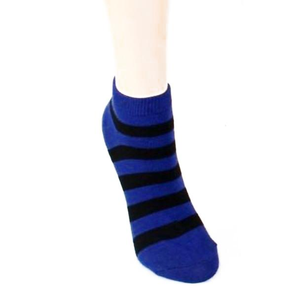 Stripe Print - Women's Ankle Sock Purple & Black