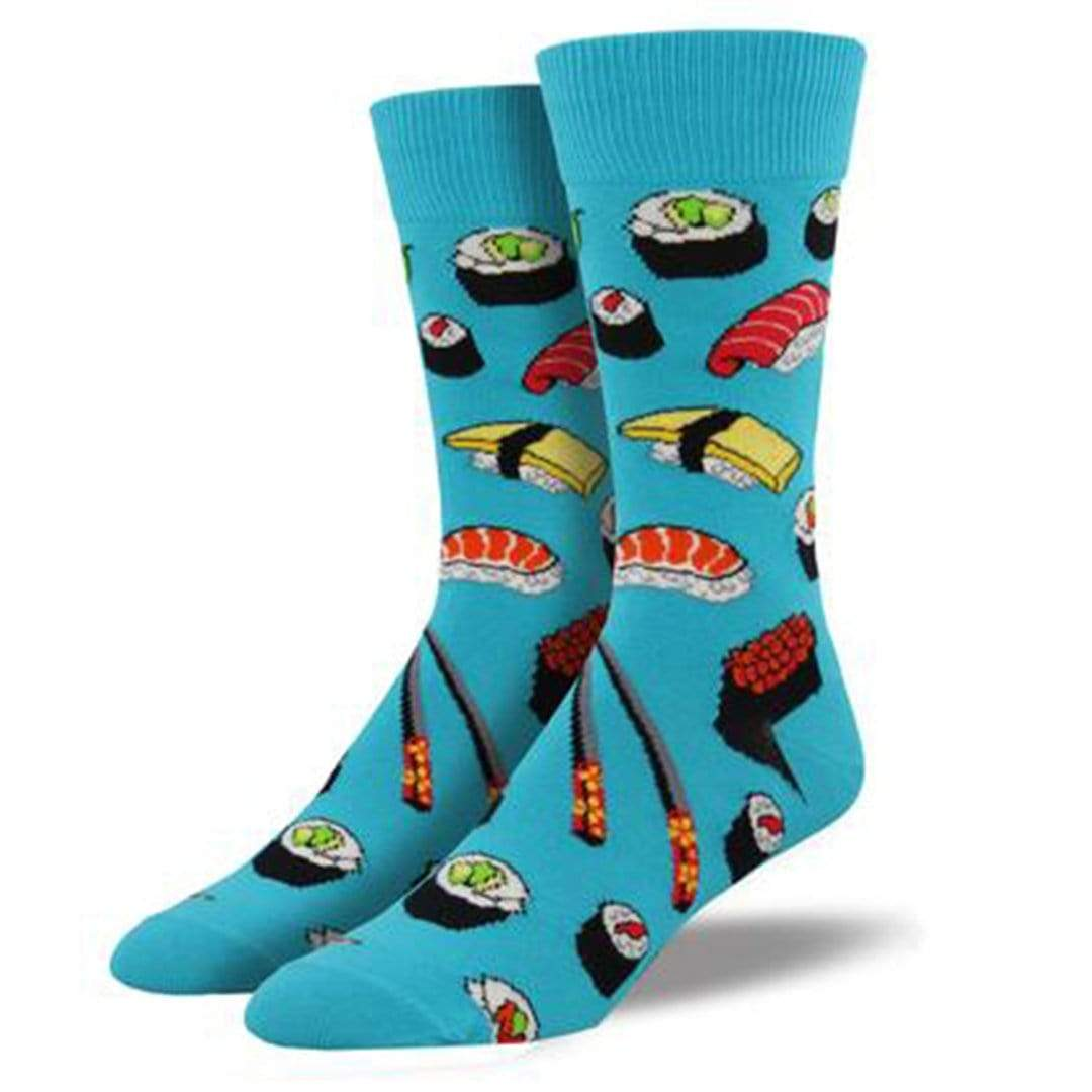 Sushi Men's Crew Sock Blue