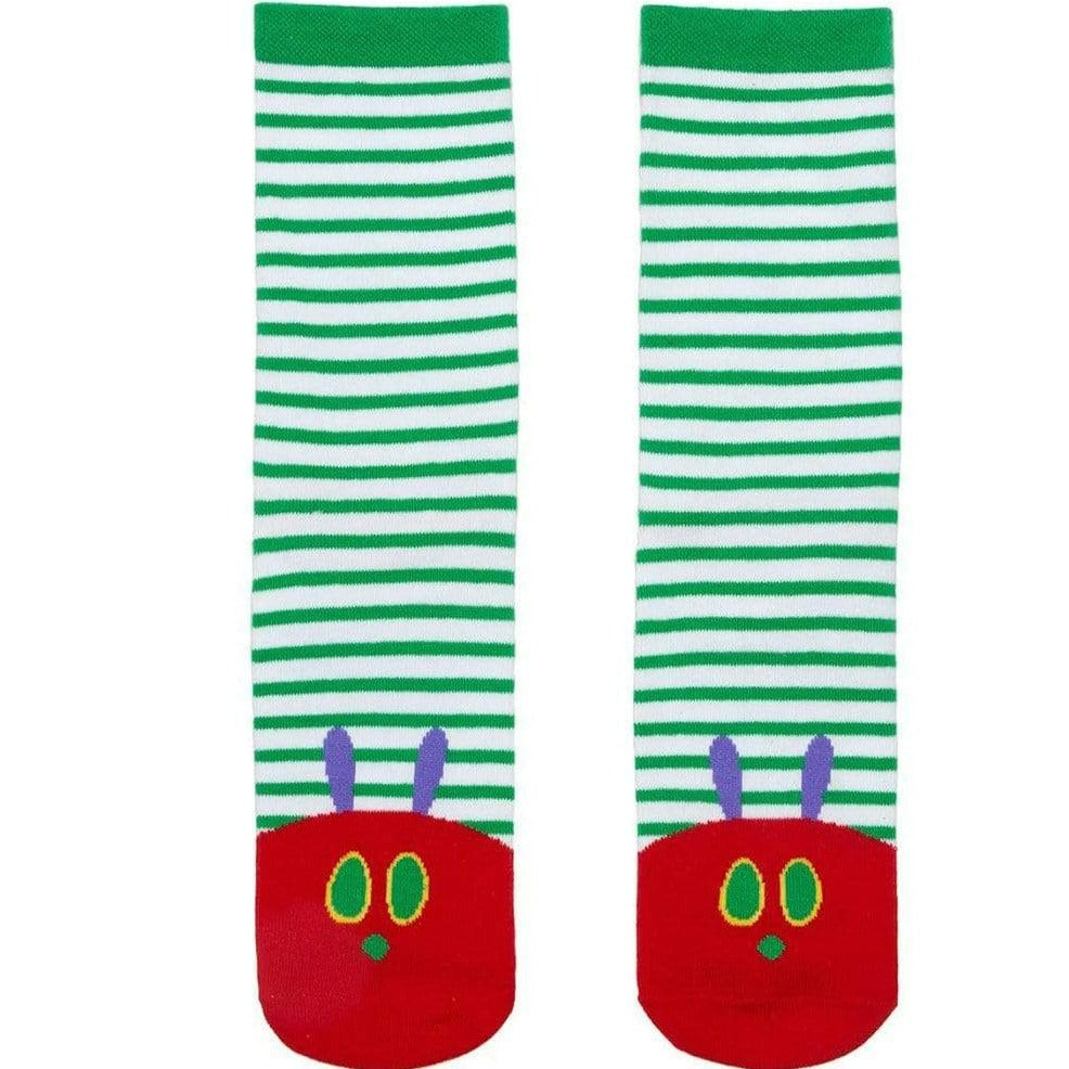 The Very Hungry Caterpillar Socks Unisex Crew Sock Men's / green