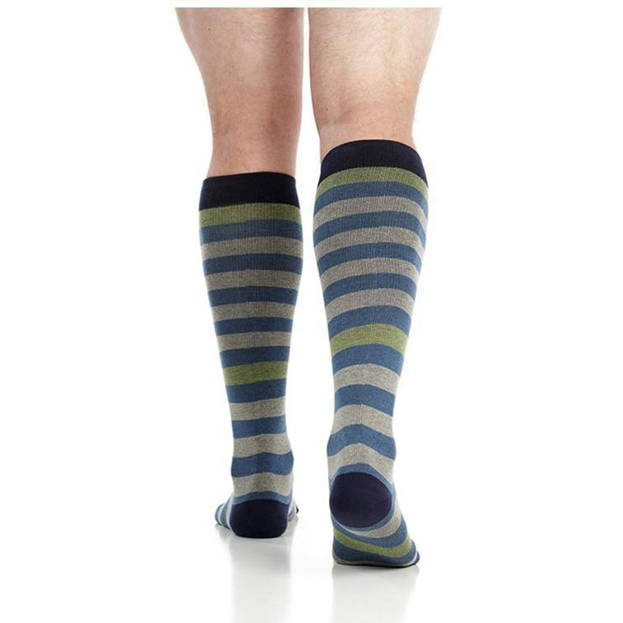 4fd9a9116 Thick Stripes Compression Socks for Men · Thick Stripes Compression Socks  Men Knee High Sock