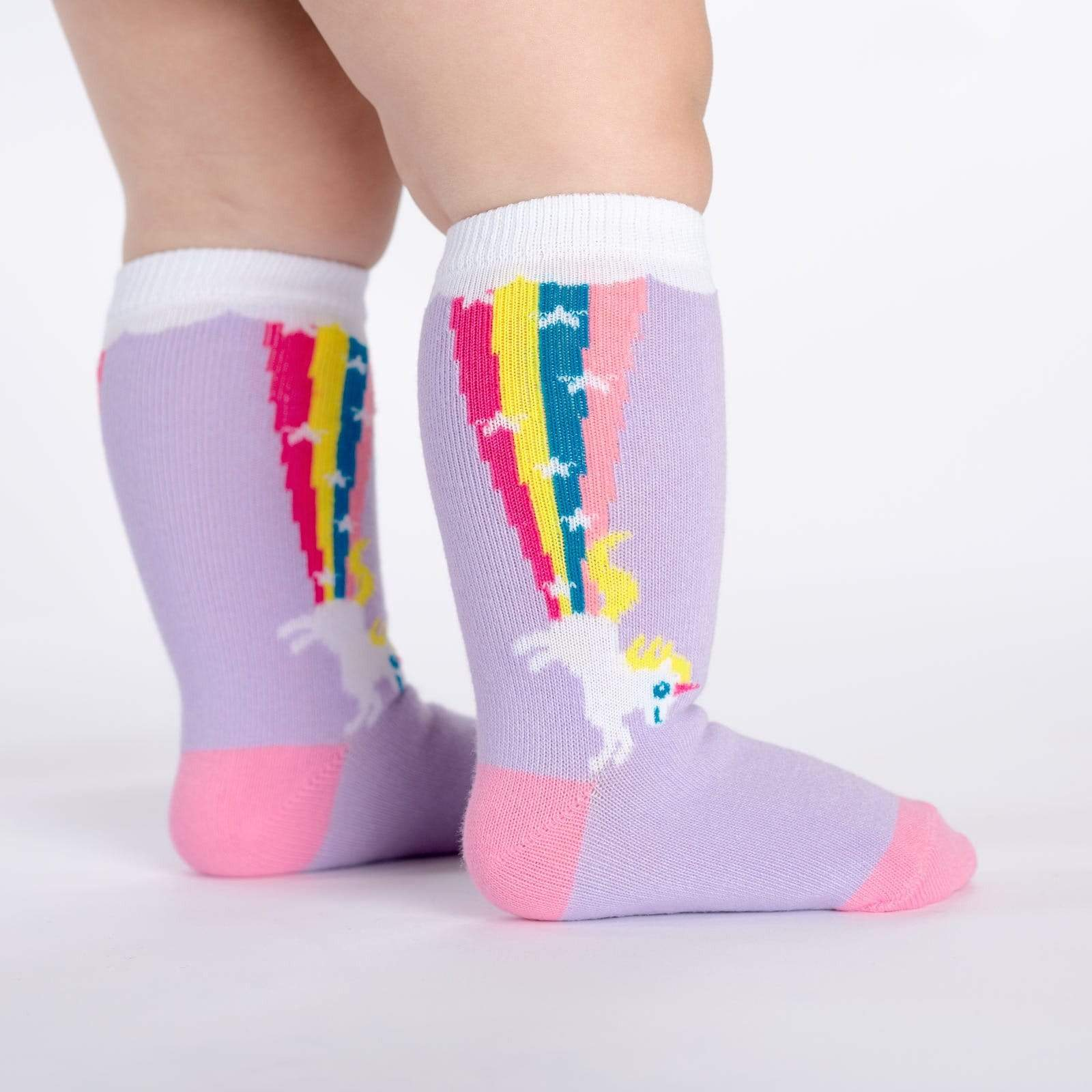 Rainbow Blast Toddler Knee High Socks