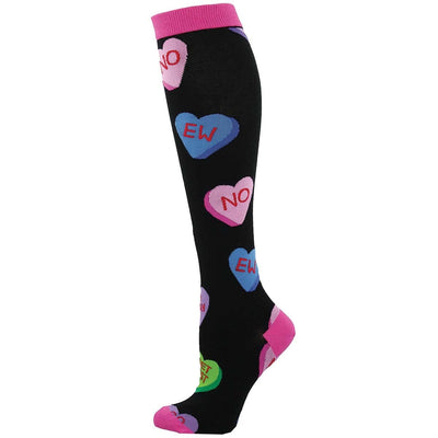 Tart Hearts Socks Women's Knee High Sock Black