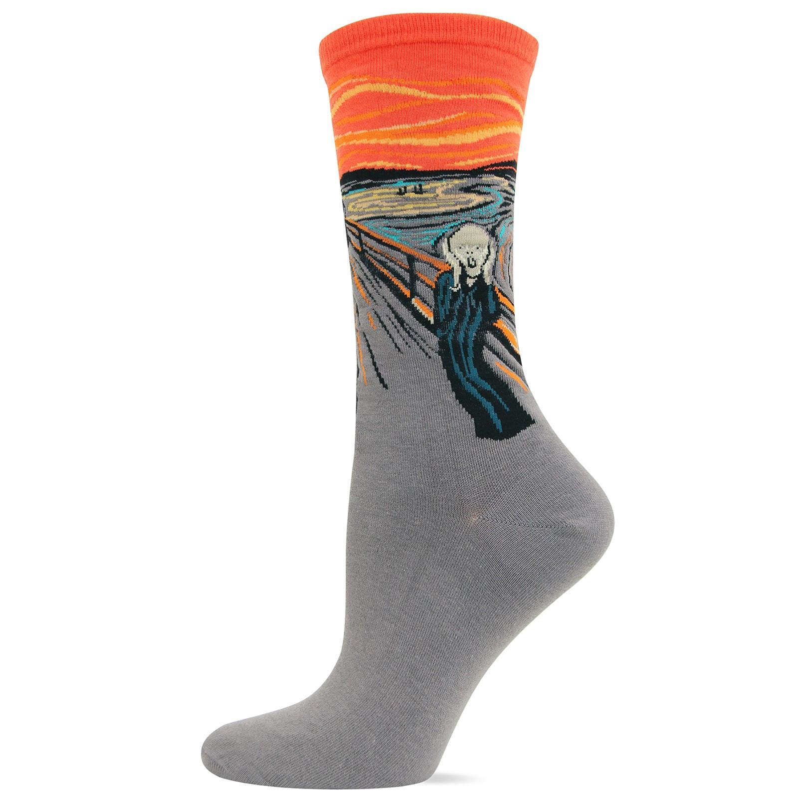 The Scream Women's Crew Sock Orange