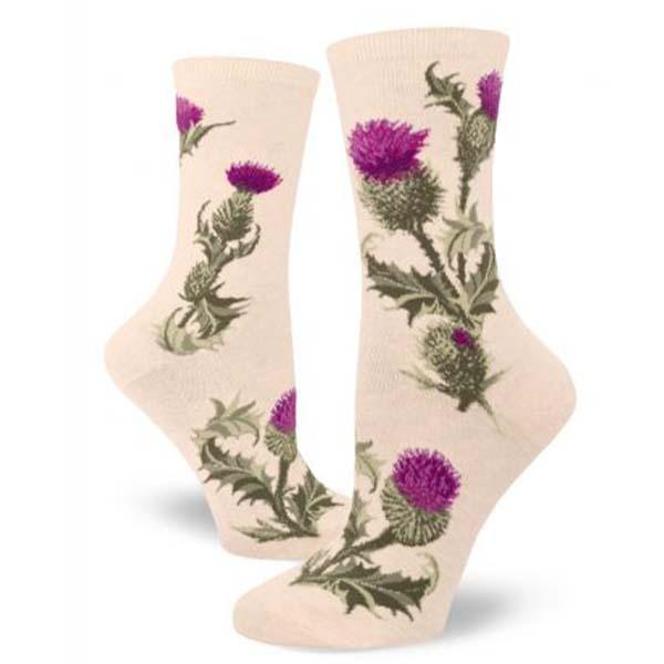 Thistle Socks Women's Crew Sock Cream