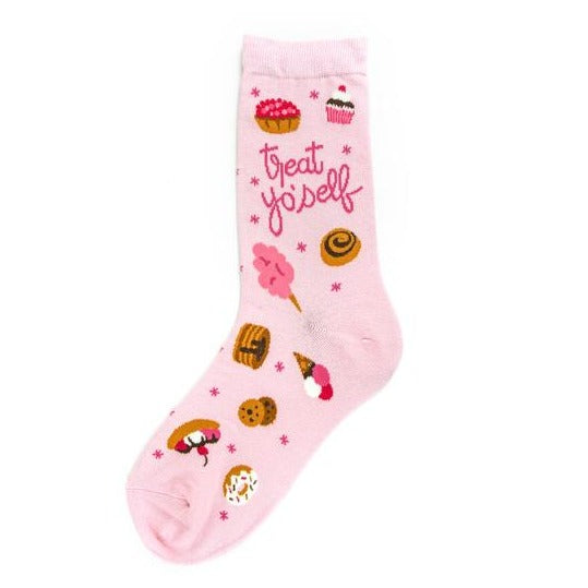 Treat Yo'Self - Crew Socks for Women