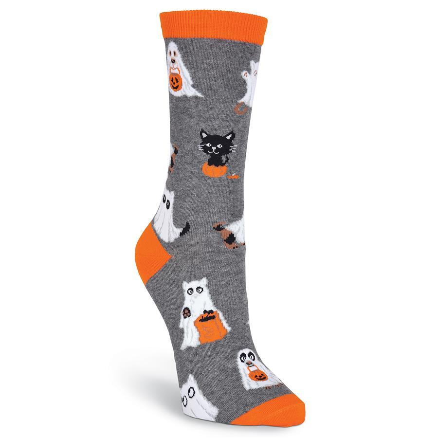 Trick or Treaters Socks - Crew Socks for Women