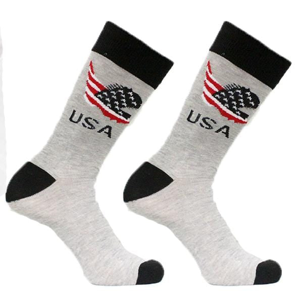 Grey Patriotic USA Sock Men's Crew Socks