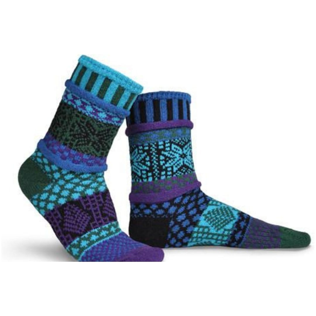 Blue Spruce Cotton Crew Socks Small / Blue