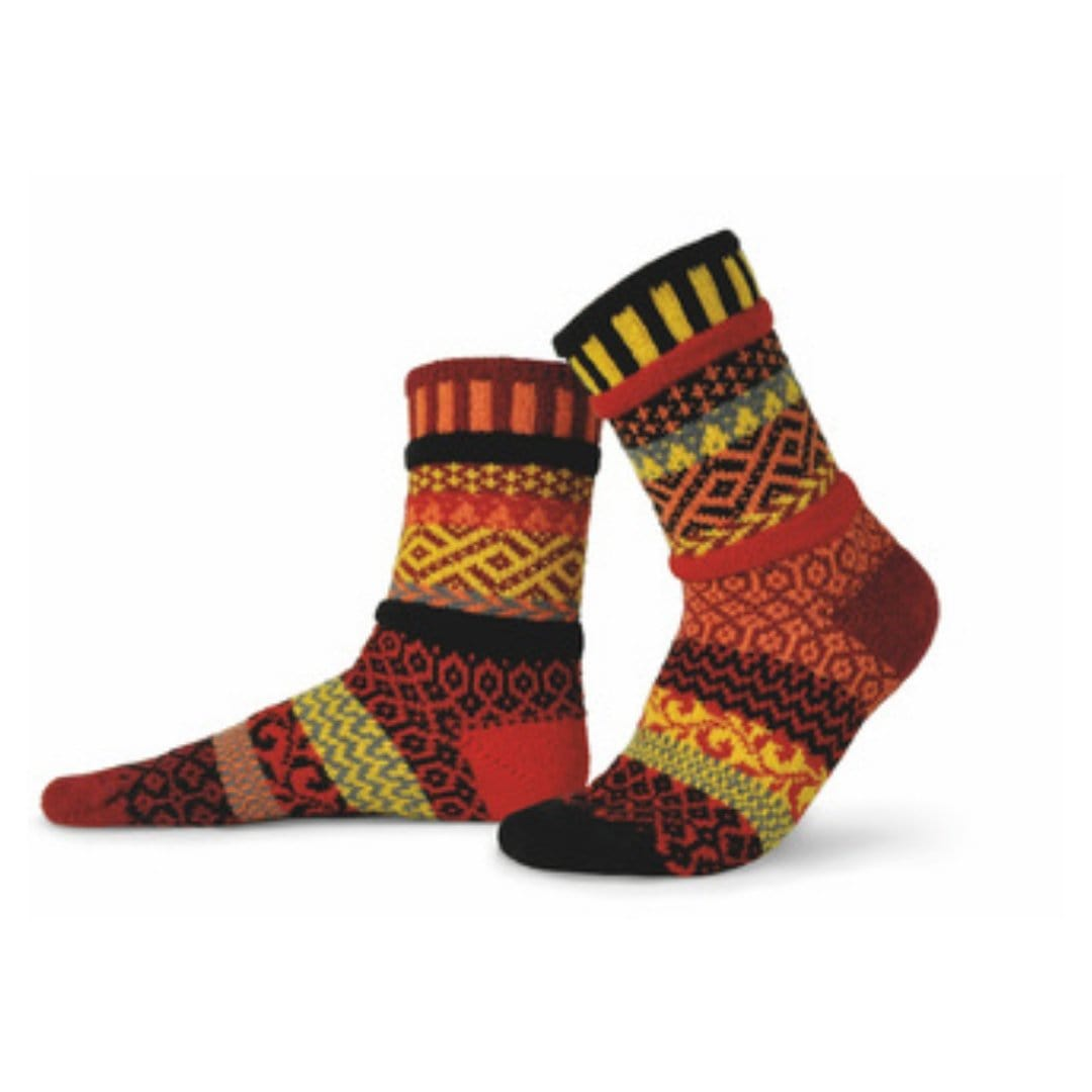 Fire Cotton Crew Socks
