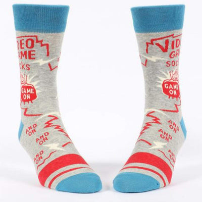 Video Game Socks Men's Crew Sock gray