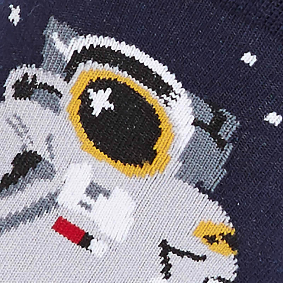 """One Giant Leap"" Astronaut Socks - Crew Socks for Women"