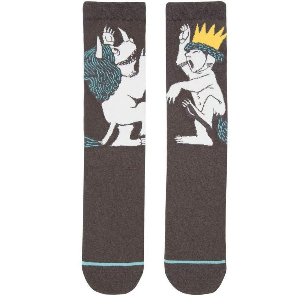 Where The Wild Things Are Socks Unisex Crew Sock Men's / grey