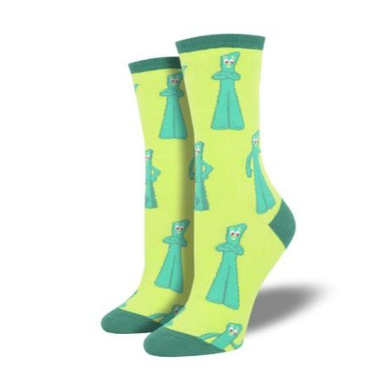 gumby-greetings-crew-socks-for-woman