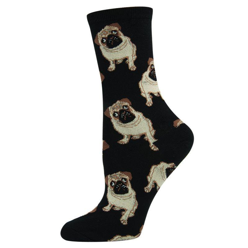 pugs-womens-crew-socks
