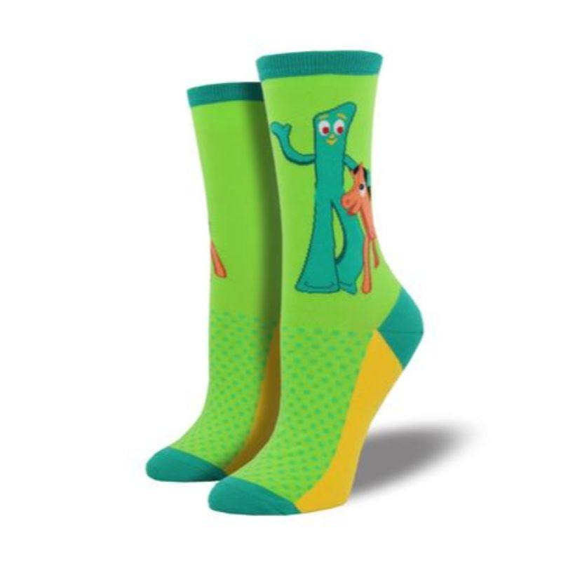 gumby-and-pokey-crew-socks-for-women