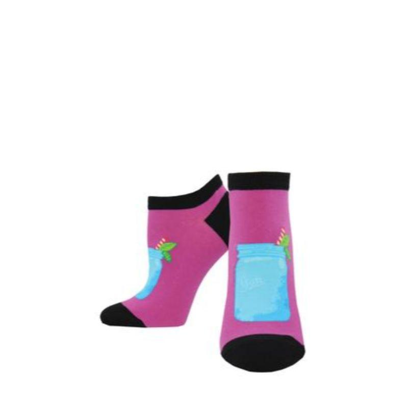 Summer Cooler Shortie Socks -Women's No Show Sock pink