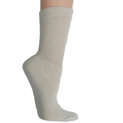 Diabetic Support Socks White