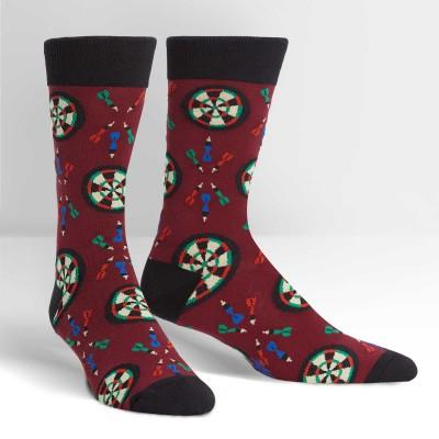 Who Darted Socks Men's Crew Sock Maroon