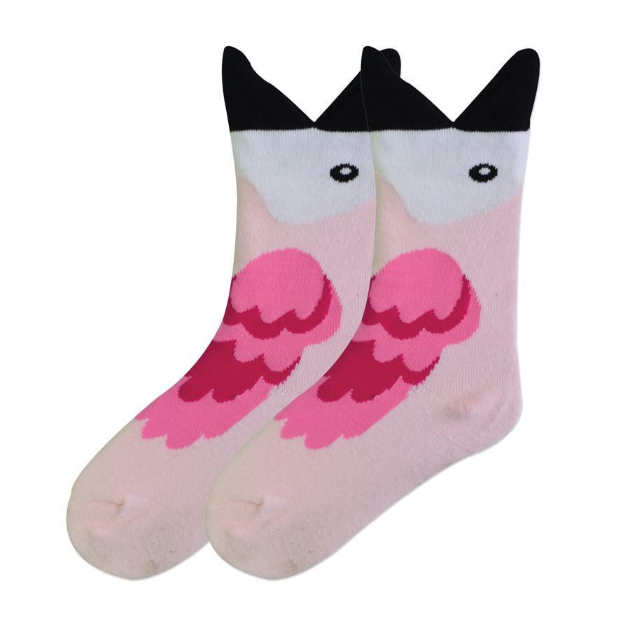 Wide Mouth Flamingo Socks - Youth