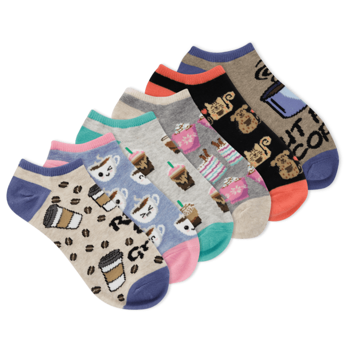 Women's Rise And Grind Ankle Socks Six Pair Pack