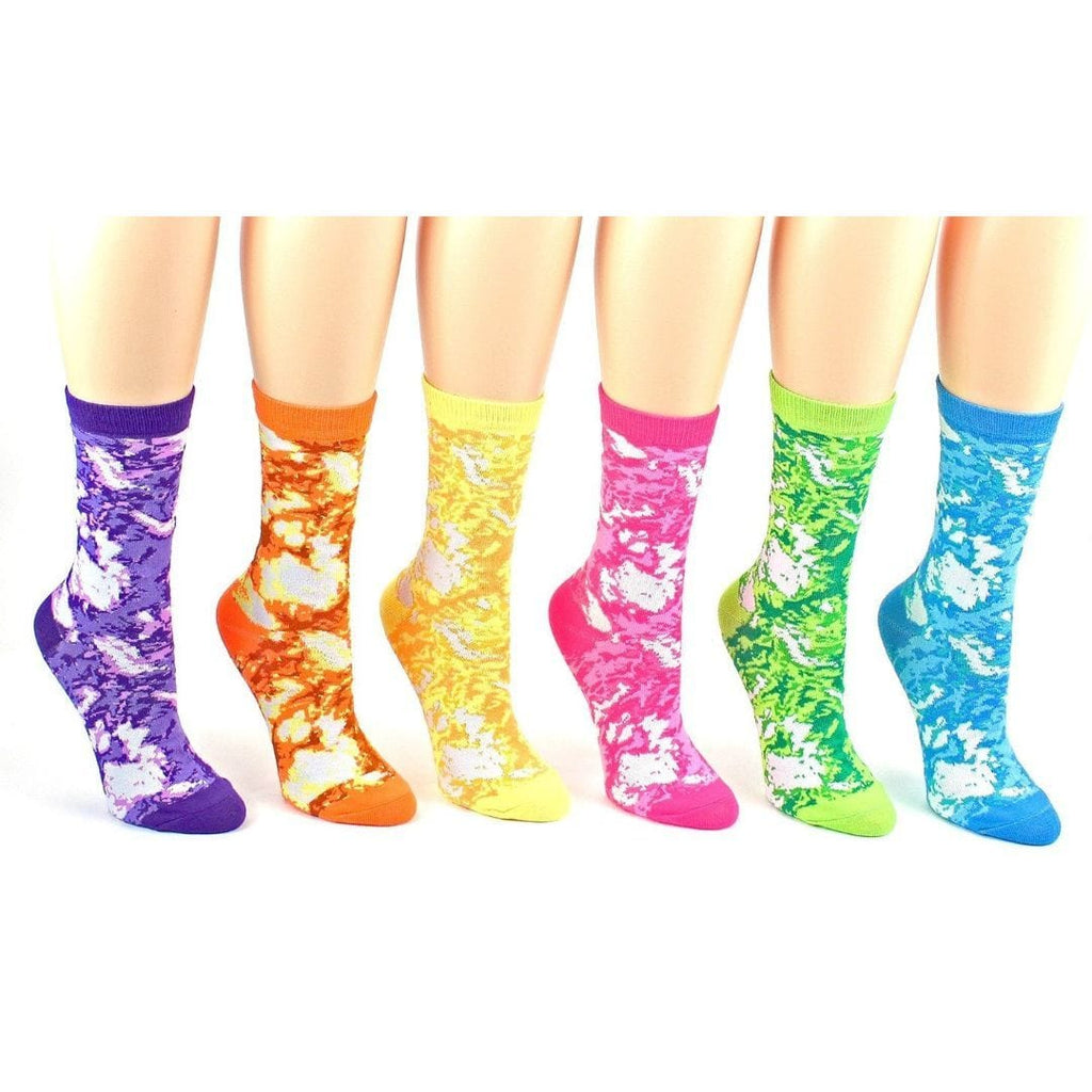 Women's Crew Socks in Tie-Dye