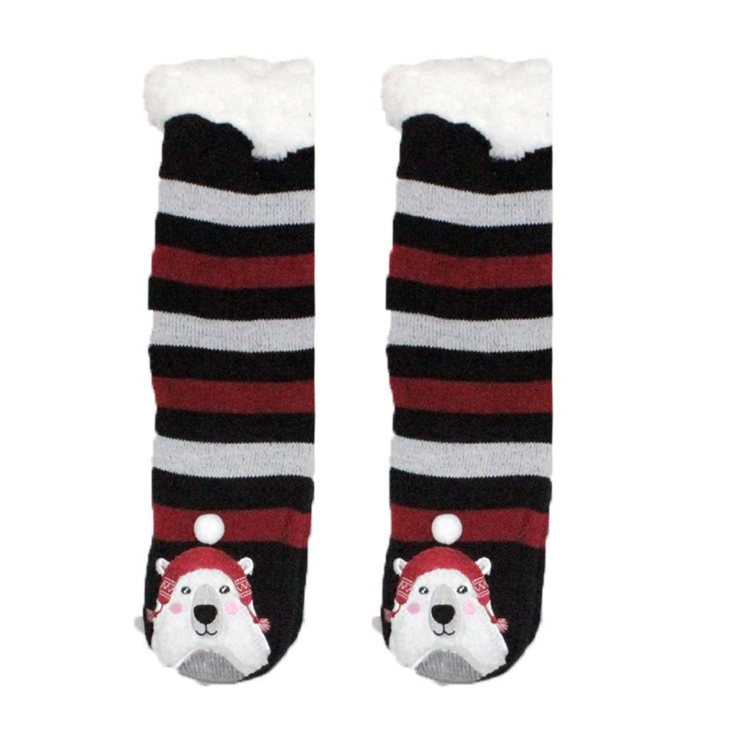Polar Bear Sherpa Slipper Socks