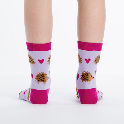 Hedgehog Heaven Junior Crew Socks - Back