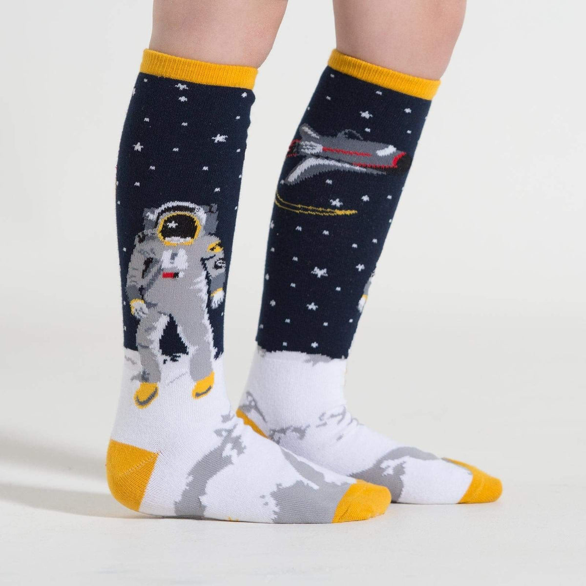 """One Small Step "" Youth Knee High Sock blue"