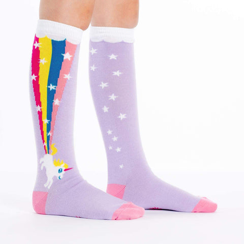 4b5bad375 Rainbow Blast Youth Knee High Socks