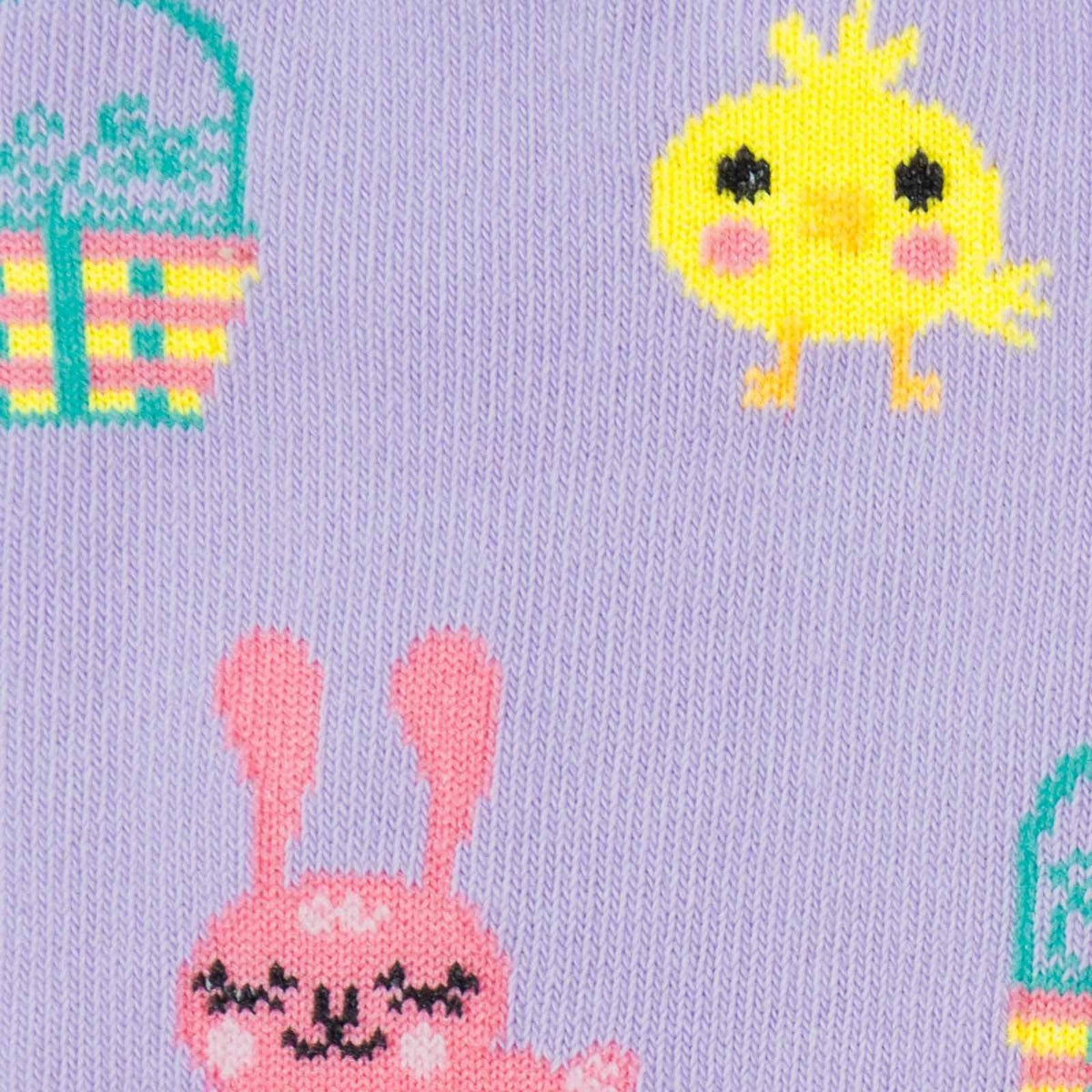 Hoppy Easter Junior Knee High Socks detail