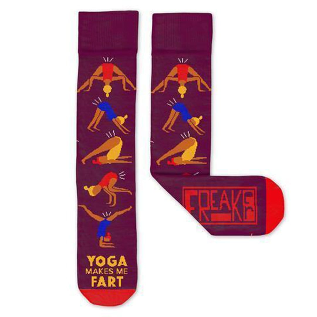 Yoga Makes Me Fart Socks - Unisex Crew Socks