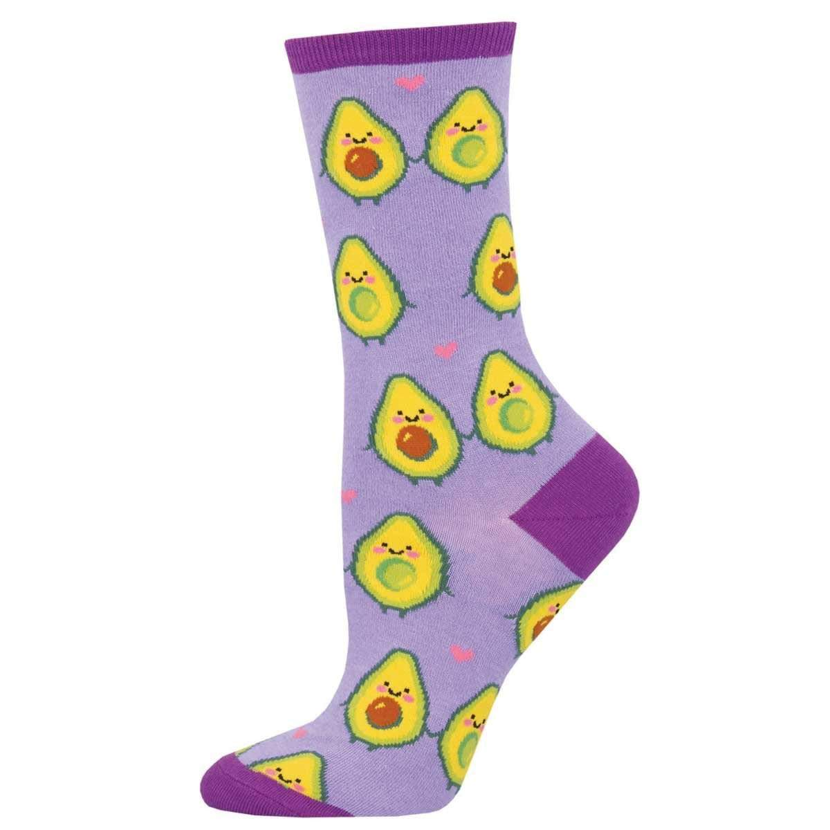 You Guac My World Women's Crew Sock Lavender