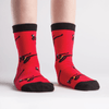 Red Ninja Youth Crew Socks