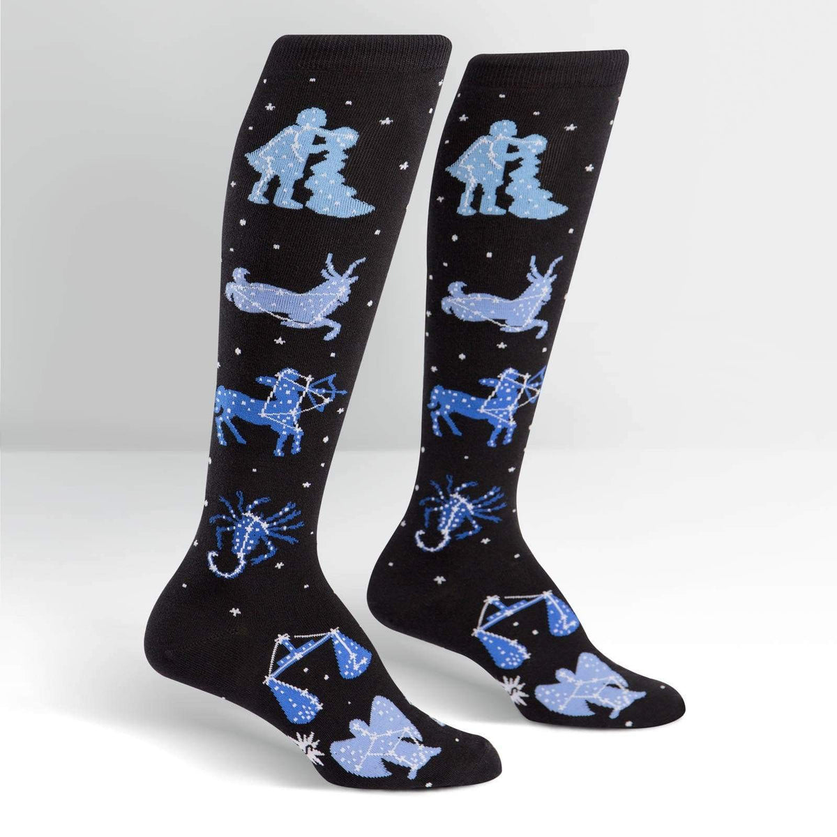 Zodiac Socks Women's Knee High Sock Black