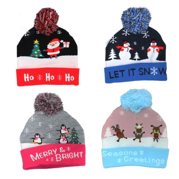 Children's Pom Pom Hats