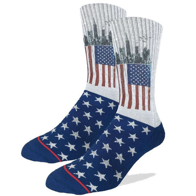 American Flag Active Fit Socks Men's Crew Sock