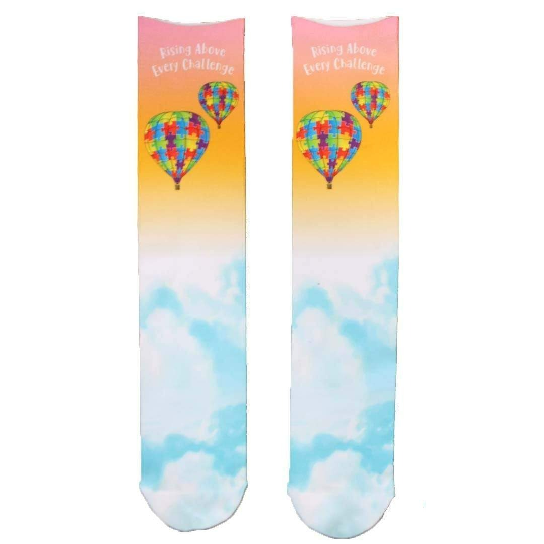 Autism Awareness Hot Air Balloon Crew Socks OSFM / Multi