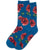 Autumn Floral Women's Crew Socks Teal