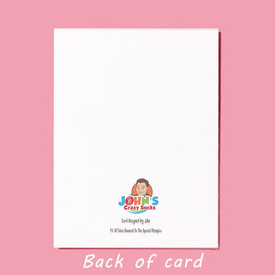 Valentine's Day Greeting Card Back