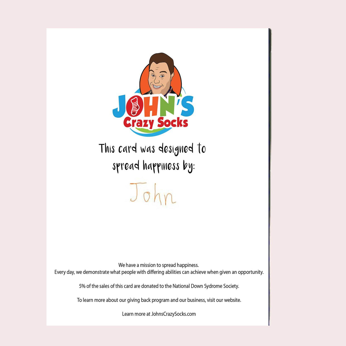 Happy Down Syndrome Day Greeting Card