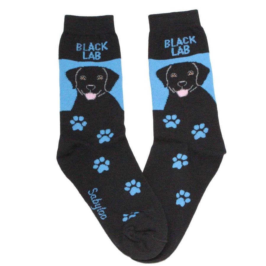 Black Labrador Retriever Dog Crew Socks