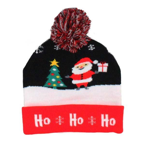 Children's Holiday Hat Pom Pom Hats Black