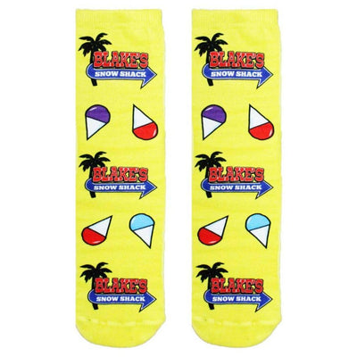 Blake's Snow Shack Socks Unisex Crew Sock Yellow