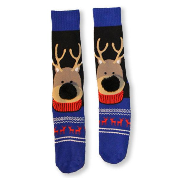 Reindeer Christmas Slipper Women's Sock