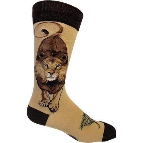 Boss Lion Socks Men's Crew Sock yellow