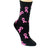 Breast Cancer Awareness Socks Women's Crew Sock Black with Pink Ribbons / Black