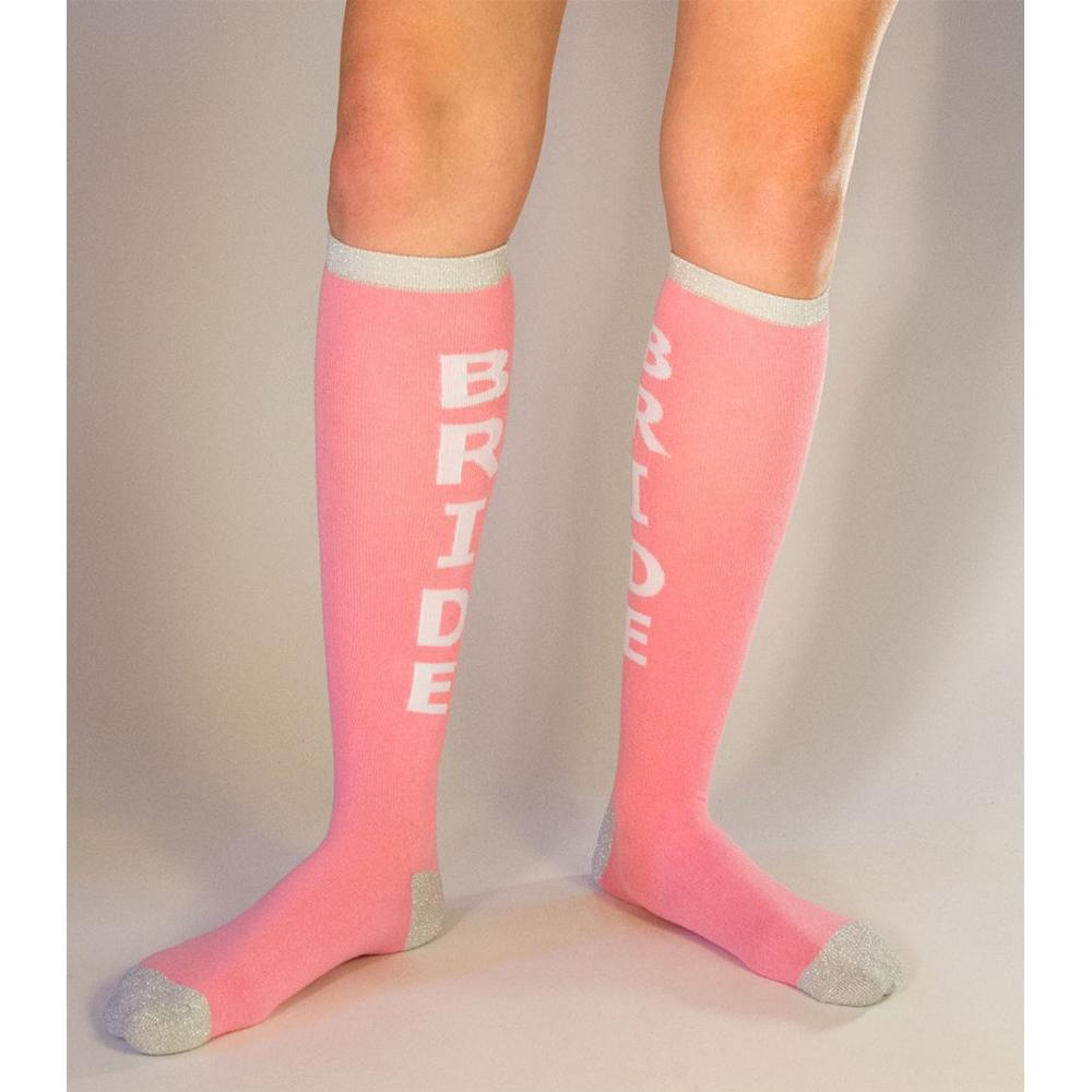 Bride Socks Women's Knee High Sock pink