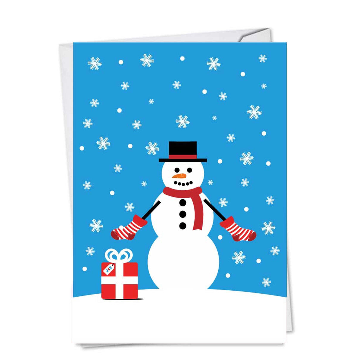 Snowman Holiday Greeting Card Single Card