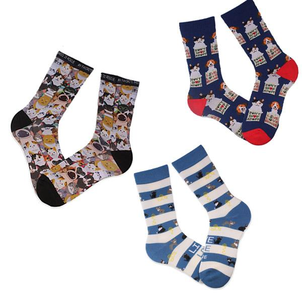 I Love My Kitty Animal Rescue Sock Pack Multi / Men's